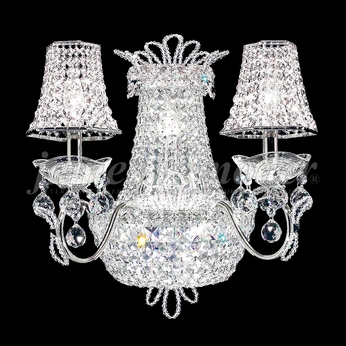 James Moder 94109S22-88 Princess Crystal Silver Wall Lighting