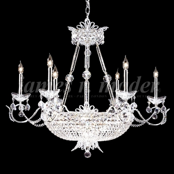 James Moder 94110S22 Princess Crystal Silver Hanging Chandelier