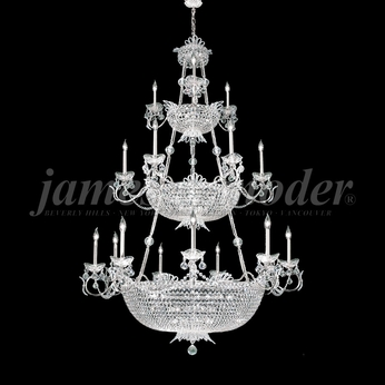 James Moder 94115S22 Princess Crystal Silver Chandelier Light