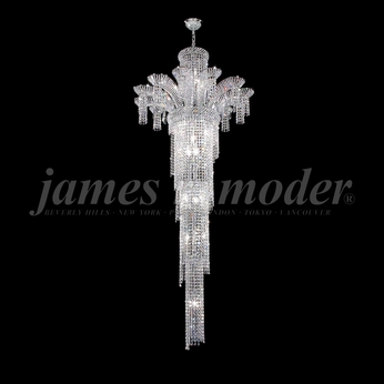 James Moder 94122S22 Princess Crystal Silver Chandelier Lamp