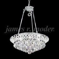 James Moder 94138S22 Jacqueline Crystal Silver 19  Drop Ceiling Light Fixture
