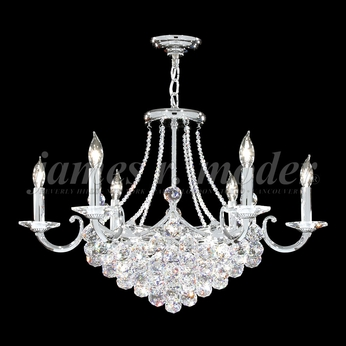 James Moder 94148S22 Jacqueline Crystal Silver Ceiling Chandelier