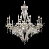 James Moder 94350PW22 Dynasty Cast Brass Crystal Pewter Chandelier Lamp