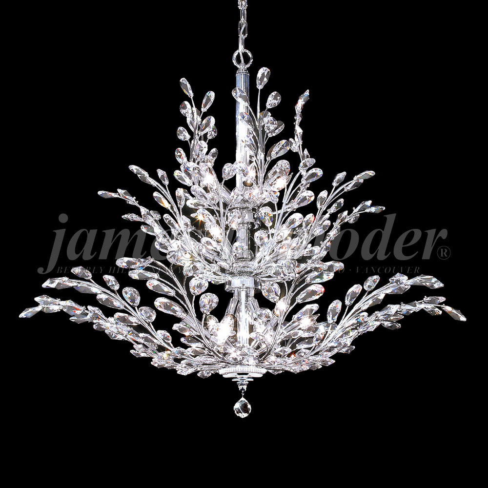 James Moder 94458s22 Fle Crystal Silver Lighting Chandelier