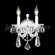 James Moder 94702S22 Maria Theresa Royal Crystal Silver Wall Light Fixture