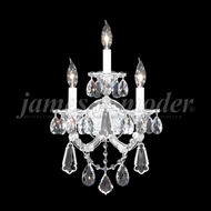 James Moder 94703S22 Maria Theresa Royal Crystal Silver Lighting Wall Sconce