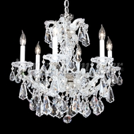 James Moder 94716S22 Maria Theresa Royal Crystal Silver Mini Ceiling Chandelier