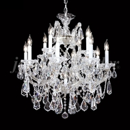 James Moder 94722S22 Maria Theresa Royal Crystal Silver Chandelier Light