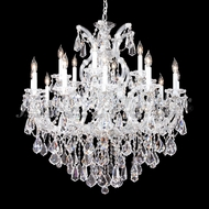 James Moder 94738S22 Maria Theresa Royal Crystal Silver Chandelier Lamp