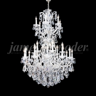 James Moder 94744S22 Maria Theresa Royal Crystal Silver Chandelier Light
