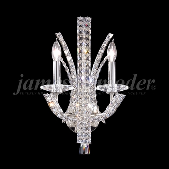 James Moder 95632S22 Eclipse Fashion Crystal Silver Wall Light Sconce