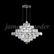 James Moder 95887S22 Continental Fashion Crystal Silver Mini Chandelier Light