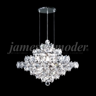 James Moder 95888S22 Continental Fashion Crystal Silver Ceiling Chandelier