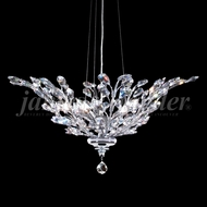 James Moder 95927S22 Florale Crystal Silver Drop Lighting Fixture