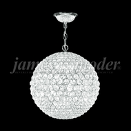 James Moder 95934S22LED Sun Sphere Crystal Silver 14  Lighting Pendant