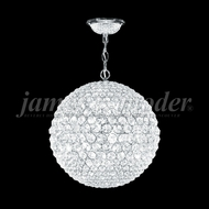 James Moder 95936S22 Sun Sphere Crystal Silver 20  Hanging Lamp