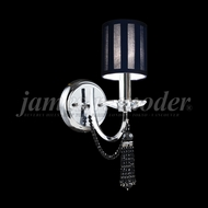 James Moder 96001S2JJ-71 Tassel Crystal Silver Wall Light Sconce