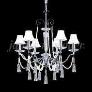 James Moder 96016S2P-95 Pearl Crystal Silver Chandelier Light