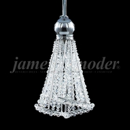 James Moder 96041S22 Jewelry Crystal Silver Halogen Mini Drop Ceiling Light Fixture