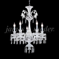 James Moder 96115S22 Le Chateau Crystal Silver Chandelier Lighting