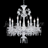 James Moder 96118S22 Le Chateau Crystal Silver Lighting Chandelier