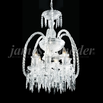 James Moder 96127S22 Le Chateau Crystal Silver Mini Hanging Chandelier