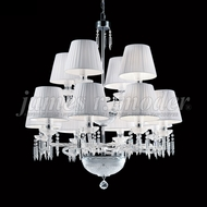James Moder 96129S22-74 Le Chateau Crystal Silver Chandelier Lighting
