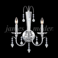 James Moder 96162S22 Medallion Silver Sconce Lighting