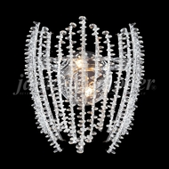James Moder 96192S22 Continental Fashion Silver Halogen Light Sconce