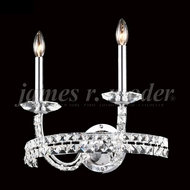 James Moder 96242S22 Ashton Crystal Silver Lighting Sconce