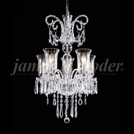 James Moder 96265S22-60 Venetian Crystal Silver Mini Ceiling Chandelier
