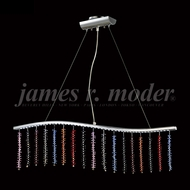 James Moder 96305S2XLED Fashionable Broadway Silver LED Kitchen Island Light
