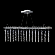 James Moder 96308S2XLED Fashionable Broadway Silver LED Kitchen Island Light Fixture