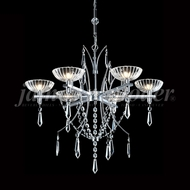 James Moder 96316S22 Medallion Crystal Silver Halogen Chandelier Lamp