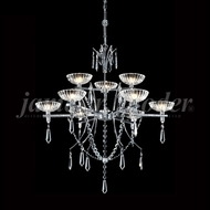James Moder 96319S22 Medallion Crystal Silver Halogen Chandelier Light