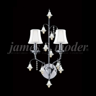 James Moder 96321S22W-97 Murano Crystal Silver Wall Light Sconce