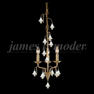 James Moder 96323AG2EW Murano Crystal Aged Gold Mini Ceiling Chandelier