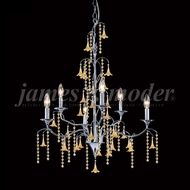 James Moder 96326S2EE Murano Crystal Silver Chandelier Light