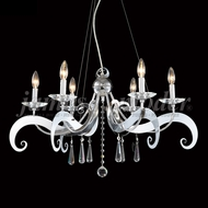 James Moder 96346S22 Europa Crystal Silver Lighting Chandelier
