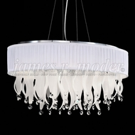 James Moder 96358S2W-74 Europa Crystal Silver Chandelier Light