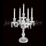 James Moder 96405S22 Crystal Silver Table Lamp