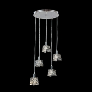 James Moder 96565S22 Butterfly Collection Silver Halogen Multi Ceiling Light Pendant