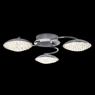 James Moder 96643S22LED Galaxy Collection Silver LED Ceiling Lighting Fixture