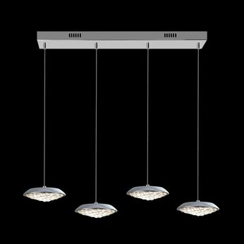 James Moder 96644S22LED Galaxy Collection Silver LED Multi Pendant Lighting Fixture