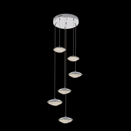 James Moder 96646S22LED Galaxy Collection Silver LED Multi Hanging Pendant Lighting