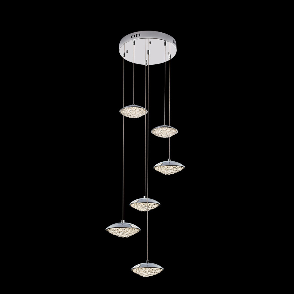James Moder 96646s22led Galaxy Collection Silver Led Multi Hanging Pendant Lighting Jam 96646s22led
