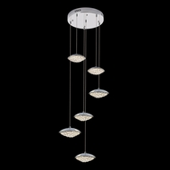 James Moder 96646S22LED Galaxy Silver LED Multi Drop Ceiling Lighting