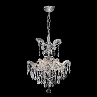James Moder 96678S22 Maria Theresa Grand Silver Mini Hanging Chandelier