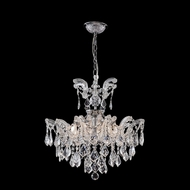 James Moder 96679S22 Maria Theresa Grand Collection Silver Mini Chandelier Lamp