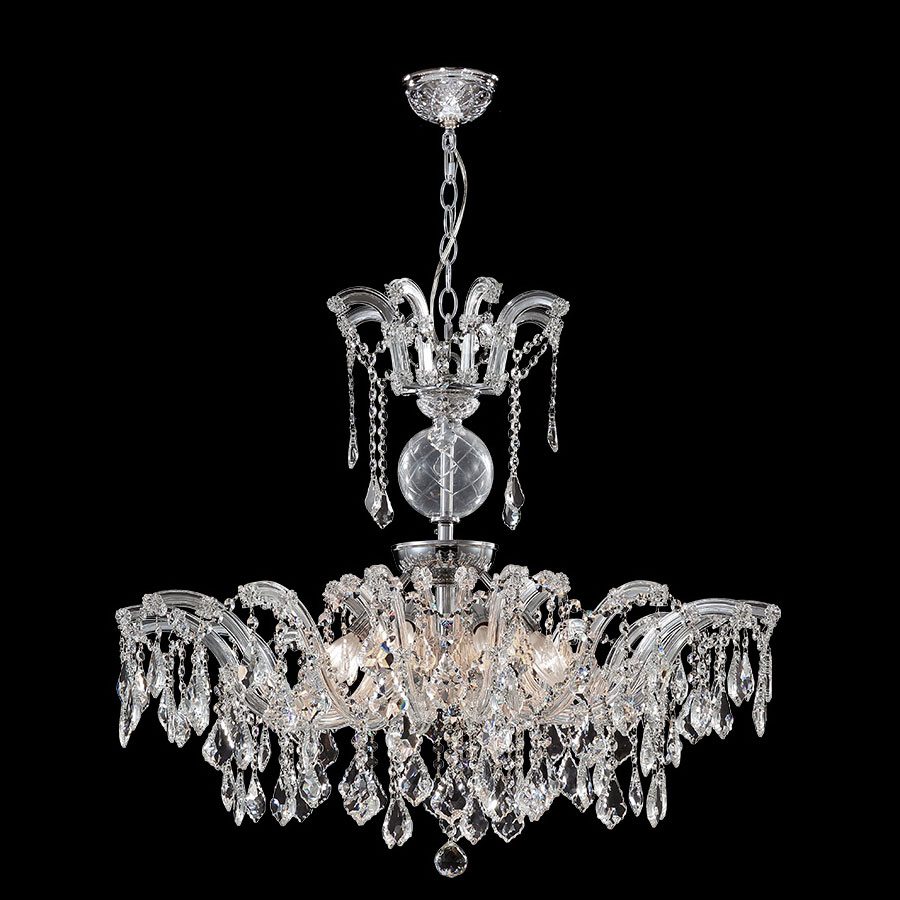 James Moder 96680s22 Maria Theresa Grand Silver Chandelier Lighting